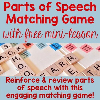 Parts of Speech Matching Game with FREE Mini-Lesson