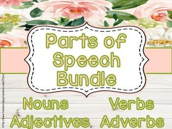 Parts of Speech Mega Bundle: Third Grade Common Core!