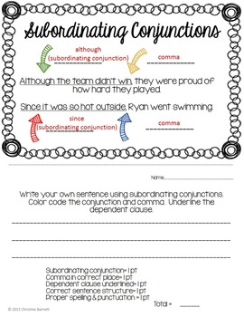 Parts of Speech: Mentor & Proof of Mastery Sentences Booklet