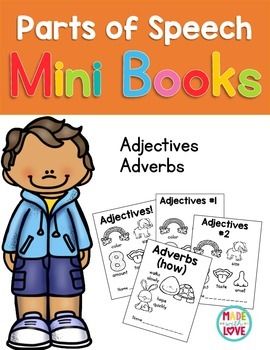 Parts of Speech Mini Books: Adjectives & Adverbs