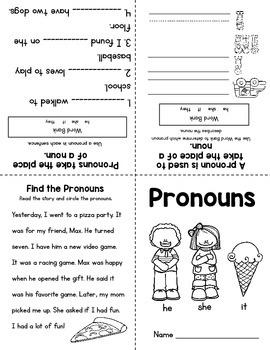 Parts of Speech Mini Books: Nouns & Pronouns