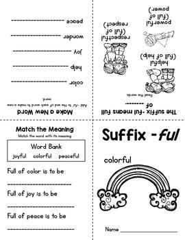 Parts of Speech Mini Books: Prefixes & Suffixes