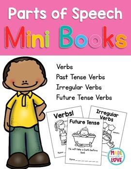 Parts of Speech Mini Books: Verbs