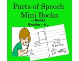 Parts of Speech Mini Books for Grades 1 and 2 (Grammar for Literacy Center)