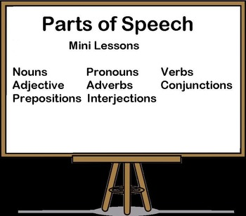 Parts of Speech Mini Lesson Bundle