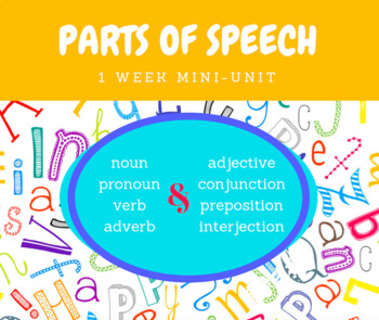 Parts of Speech Mini Unit
