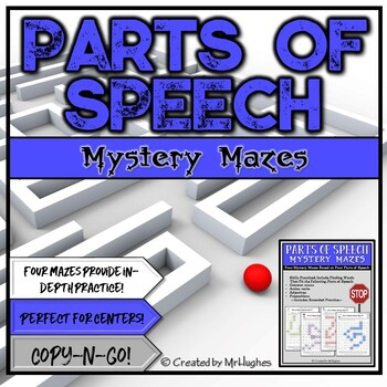 Parts of Speech Mystery Mazes Set 1