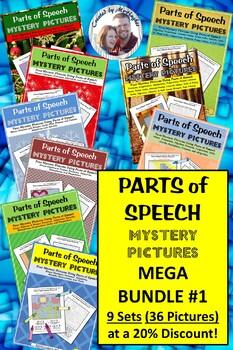 Parts of Speech Mystery Picture MEGA BUNDLE #1