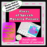 Parts of Speech Mystery Picture Valentine theme