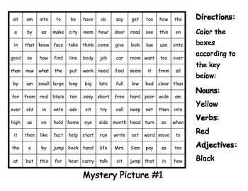 Parts of Speech Mystery Pictures #2