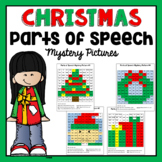 Parts of Speech Mystery Pictures Christmas Edition