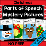 Christmas Parts of Speech Mystery Pictures | Printable & Digital