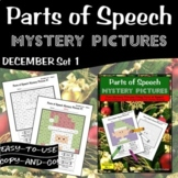 Christmas Parts of Speech Mystery Pictures | Grammar Mystery Pictures | December