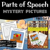 Parts of Speech Mystery Pictures | Grammar Pictures | Fall