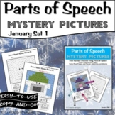 Parts of Speech Mystery Pictures - January Set 1