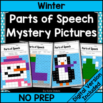 Parts of Speech Mystery Pictures - January & Winter