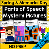 Parts of Speech Mystery Pictures - May & Spring/Memorial Day