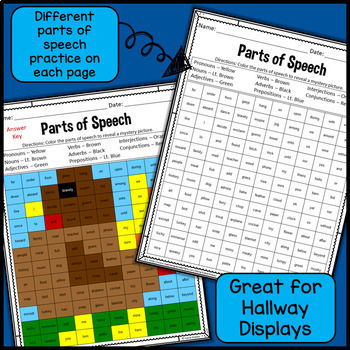 Parts of Speech Mystery Pictures - November & Thanksgiving