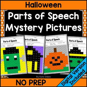 Parts of Speech Mystery Pictures - October & Halloween