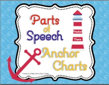 Parts of Speech Nautical Theme Anchor Charts