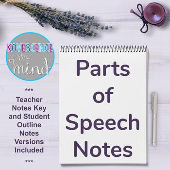Parts of Speech Notes
