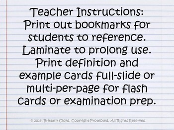 Parts of Speech Noun Verb Adjective Conjunction Book Marks Bookmarks Writing