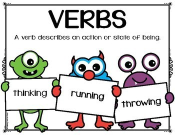 Parts of Speech: Nouns, Adjectives and Verbs {Children with Signs}