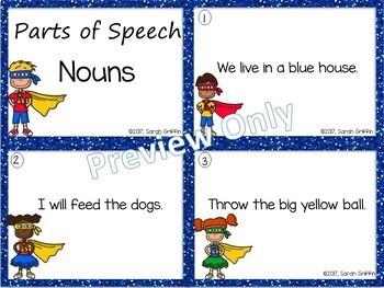 Parts of Speech ~ Nouns ~ Task Cards Center