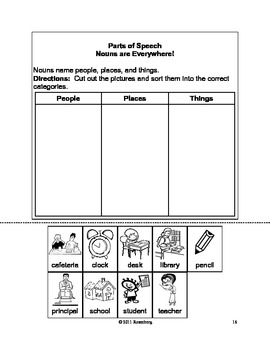 Parts of Speech:  Nouns, Verbs, Adjective, and Pronouns