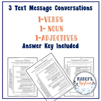 Parts of Speech 1st grade and 2nd grade Worksheet