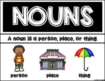 Parts of Speech - Nouns, Verbs, Adjectives