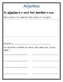 Parts of Speech: Nouns, Verbs, & Adjectives- 7 pages!