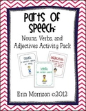 Parts of Speech: Nouns, Verbs, Adjectives Activity Pack