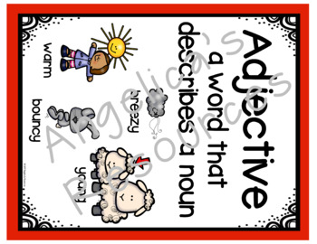 Parts of Speech: Nouns, Verbs, &  Adjectives -Puzzles, Flip Book, & Printables