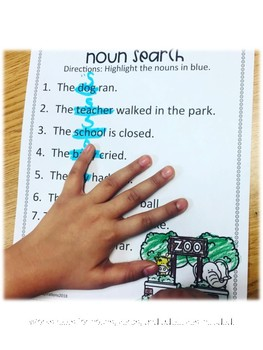 Parts of Speech (Nouns, Verbs, and Adjectives)