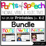Parts of Speech: Nouns, Verbs, and Adjectives