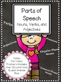 Parts of Speech: Nouns, Verbs and Adjectives Worksheets, Games and More!