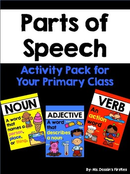 Parts of Speech Pack: Nouns, Verbs, and Adjectives