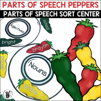 Parts of Speech Peppers Center Game