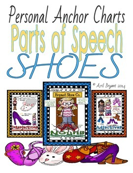 Parts of Speech Personal Anchor Charts