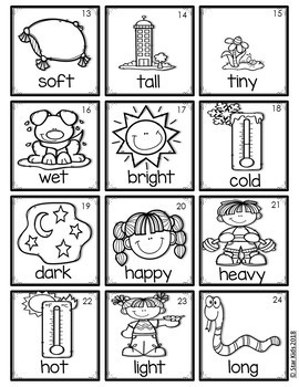Parts of Speech Picture Cards {For Small Pocket Charts}