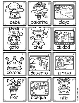 Parts of Speech Picture Cards IN SPANISH {For Small Pocket Charts}