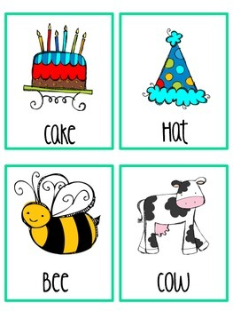 Parts of Speech Picture Sorting Cards and Activities