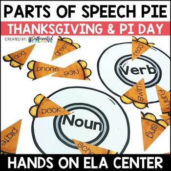 Parts of Speech Pie Center Game
