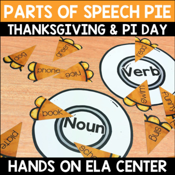Parts of Speech Pie Center Game