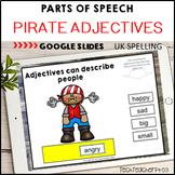 Parts of Speech Pirate Adjectives Google Slides ™ Distance