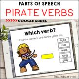 Parts of Speech Pirate Verbs Google Slides ™ Distance Lear
