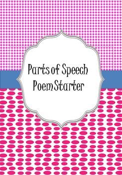 Parts of Speech Poetry Starter