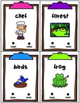 Parts of Speech Poke Cards