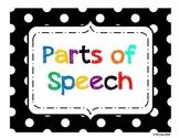 Parts of Speech - Polka Dot Theme